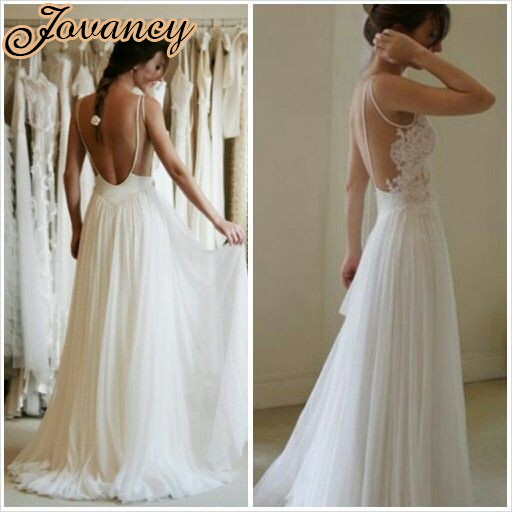 Discount Simple Elegant Open Back Long Sleeve Wedding: Cheap White Long Party Dress Sexy Sheer Lace V Neck