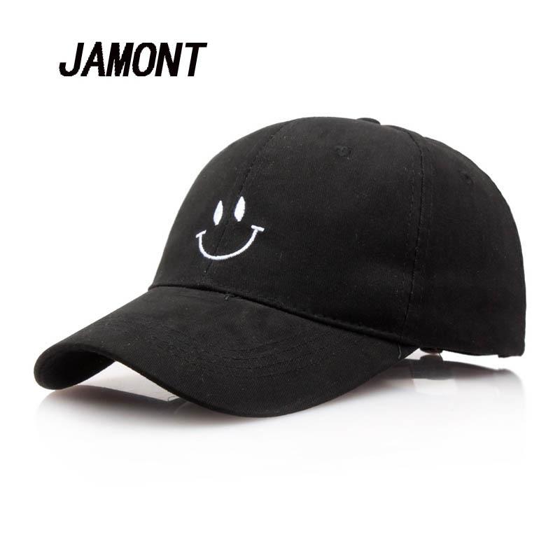 Emoji Embroidery Baseball Cap Women Fashion Spring Summer Snapback Sun Hat Men Bone Caps