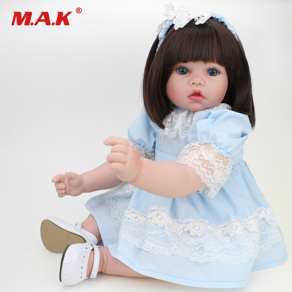 20 Inches 50 cm Baby Reborn Doll American Girl Doll Soft Body Lifelike Princess Dolls With Clothes for Kids Toys Bebe Newborn american girl doll clothes 4 styles elsa blue lace princess dress doll clothes for 16 18 inch dolls baby doll accessories x 2