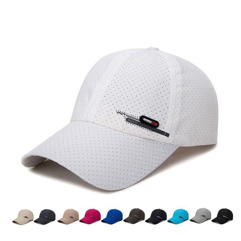 Summer New Breathable Perforation Quick-drying Men's   Caps   Fishing Sunscreen   Baseball     Cap   Outdoor Riding Sports Snapback   Caps