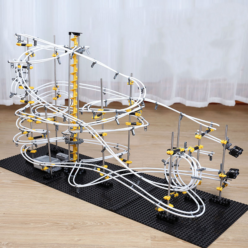 Level 1 2 3 4 DIY Space Rail Roller Coaster Model Building Kits Toys Spacerail Rollercoaster Marble Run Maze Ball Track Toy Gift in Model Building Kits from Toys Hobbies