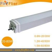 6pcs 1500mm 1200mm 600mm Triproof Light Led 20w Food Factory Lamp 30w 40w 50w 60w 80w