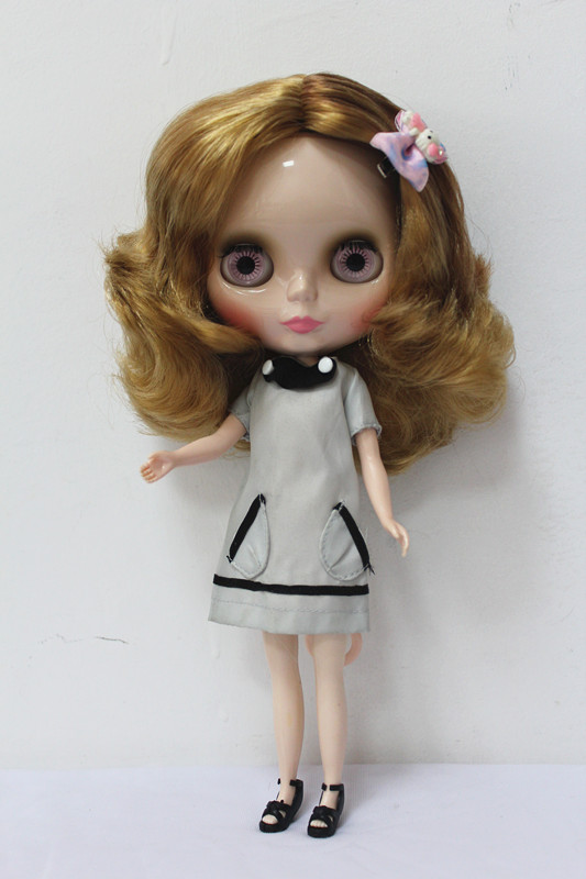 купить Free Shipping big discount RBL-176DIY Nude Blyth doll birthday gift for girl 4colour big eyes dolls with beautiful Hair cute toy дешево