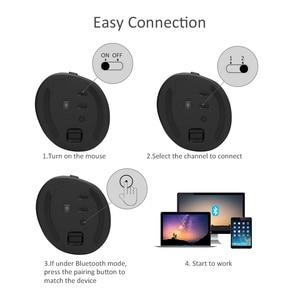 Image 4 - Delux M618 Mini souris ergonomique de jeu sans fil souris verticale Bluetooth 2.4GHz rvb Rechargeable souris silencieuse pour le bureau