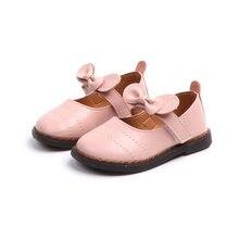 b8f3784f4 JGSHOWKITO niño niñas bebés Zapatos Niña princesa dulce pisos Arco-Nudo  lindo cuero de alta calidad las niñas zapatos Primer cum.
