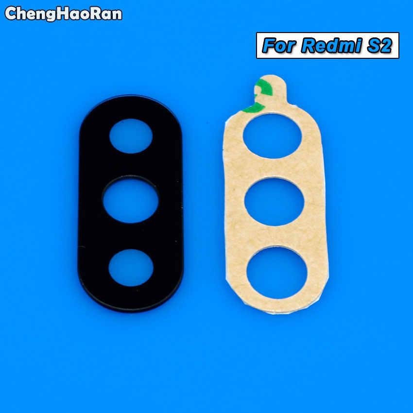 ChengHaoRan Камера Стекло для Xiaomi Redmi 2 3 4 4A 5 плюс S2 Примечание 4x 5A 6 Pro задняя Камера объектив Стекло + Стикеры ремонт Запчасти