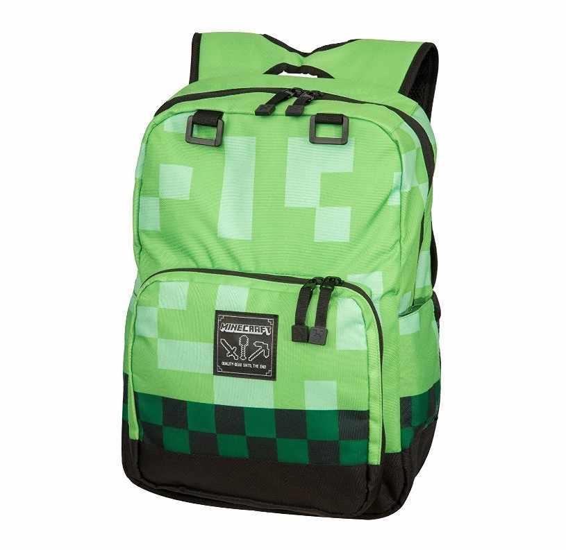 e50b7ed2f7ab 25 20 15cm Cartoon Minecraft School Bag Backpacks Book Rucksacks My World  Action Figure