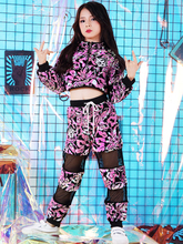 New girl jazz dance costume sequin exercise clothes hip hop street suit long sleeve performance clothing