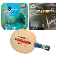 Pro Table Tennis PingPong Combo Racket Galaxy YINHE W 6 blade with RITC729 FOCUS3 and DHS NEO Hurricane 3 Rubbers