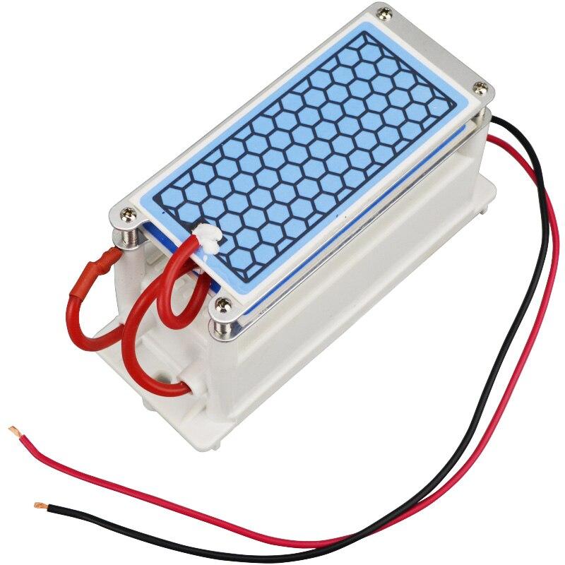 Ozone Generator 10g/h Air Poratable Ceramic 220V/110V Duble Intergrated Ceramic Plate Ozonizer Air and Water Purifier Ozonator