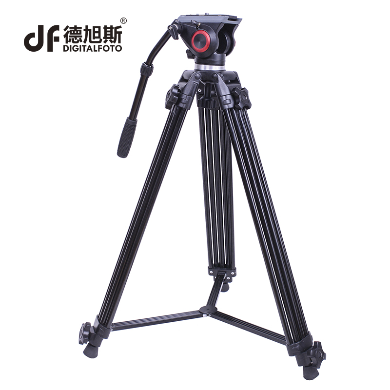 FT10 Professional video fluid head tripod Manfrotto head design for Nikon Canon BMCC DSLR camera camcorder 60mm bowl tripod professional dv camera crane jib 3m 6m 19 ft square for video camera filming with 2 axis motorized head