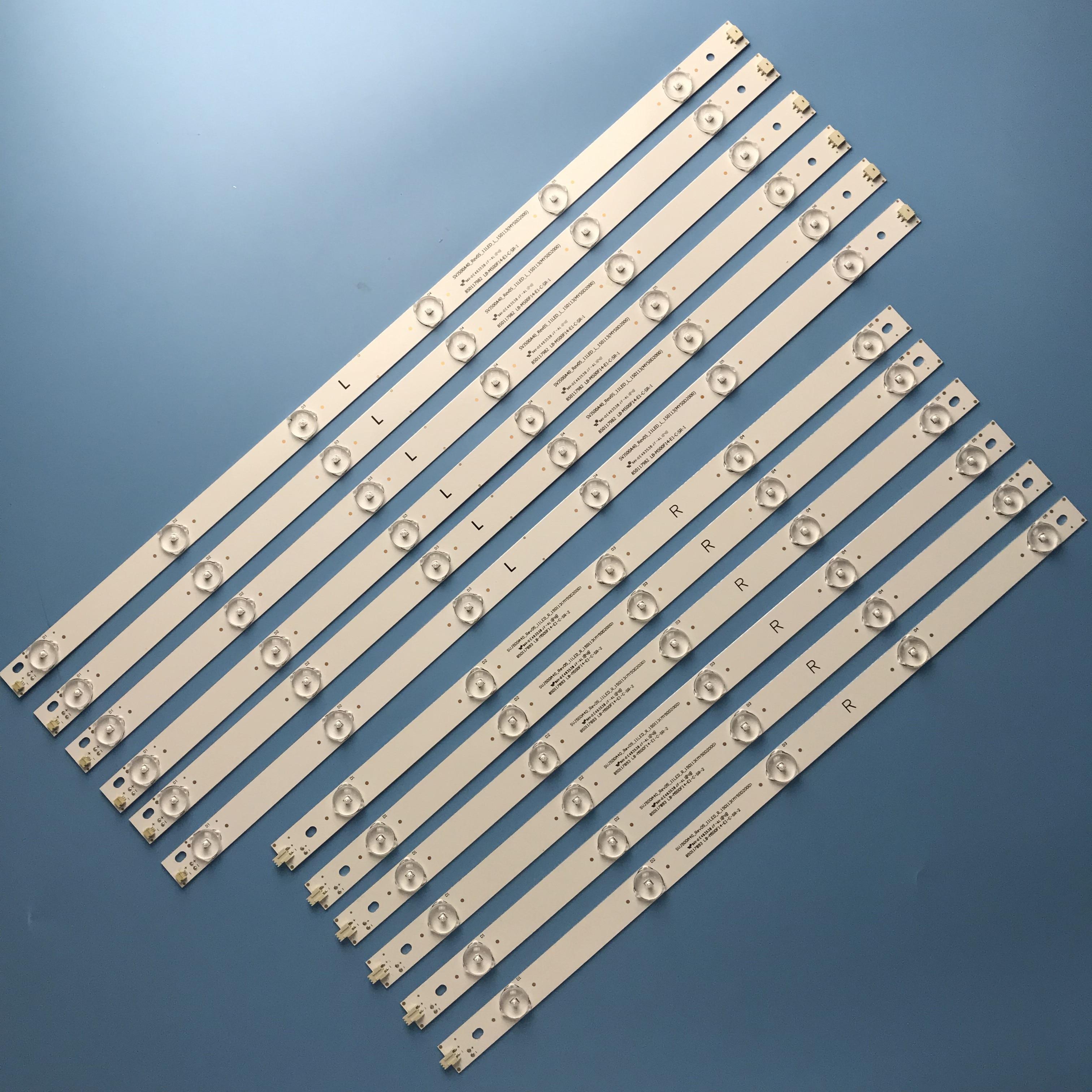 LED Backlight Strip 11 Lamp For SVJ500A40 50D2000I LB-M500F14-E1-C-SR-1 2 M500F14-E1-A