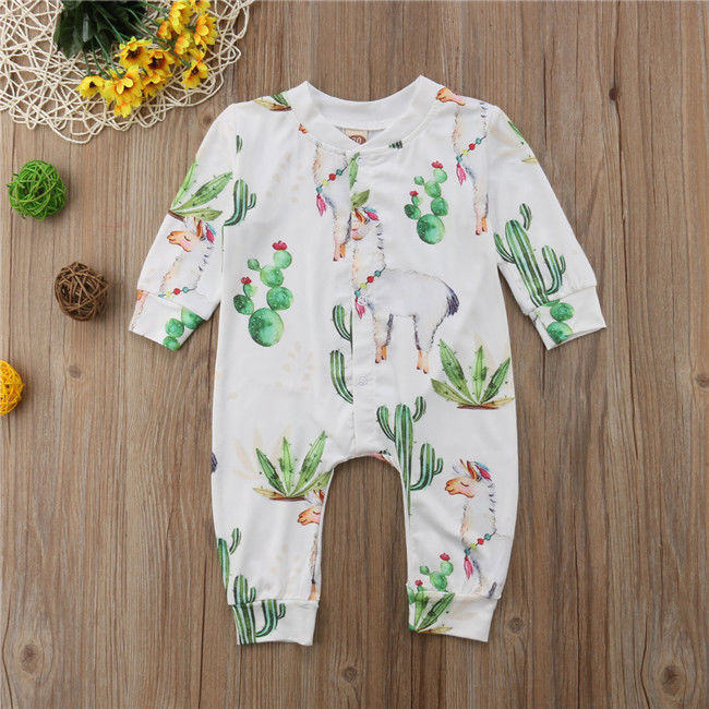Alpaca pattern Newborn Baby Boys Girls Jumpsuit   Romper   Outfits