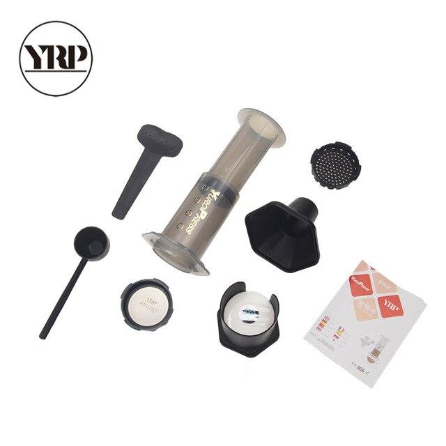 YRP YuroPress Portable Coffee Maker Espresso French Press barista tools Coffee Pot Air Press Drip Coffee Machine Filters Paper 5
