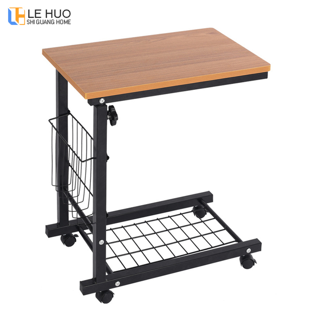 Wooden Laptop Table Mobile Computer Office Desk Living Room Adjule Sofa Side Coffee Fashion Furniture