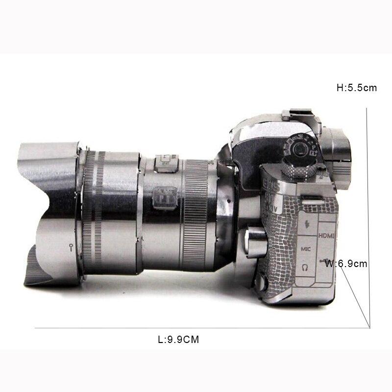 3D Metal DIY Manual Puzzles Kamera Stainless Steel Obrazovanje Jigsaw - Igre i zagonetke - Foto 3