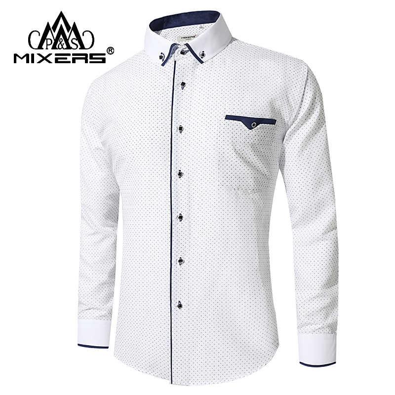 Nieuwe Collectie 2018 Wit Shirt Heren Lange Mouw Business Casual Shirts Mannen Dress Shirts Comfortabele Kleding Camisa Masculina