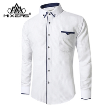 New Arrival 2018 White Shirt Men Long Sleeve Business Casual