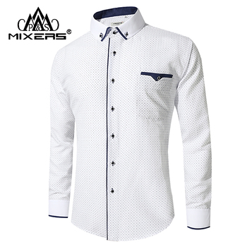New Arrival 2018 White Shirt Men Long Sleeve Business Casual Shirts Men Dress Shirts Comfortable Clothing Camisa Masculina Casual Shirts