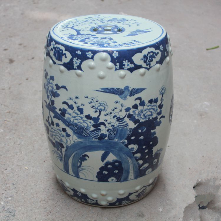 Garden porcelain chinese garden stools Ceramic toilet stool Jingdezhen bathroom Blue and white dressing chinese ceramic stool & Compare Prices on Blue Garden Stools- Online Shopping/Buy Low ... islam-shia.org