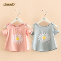 Floral Girls T Shirt Summer Cute Style Fashion Strapless Design Children S T Shirts Tops Baby