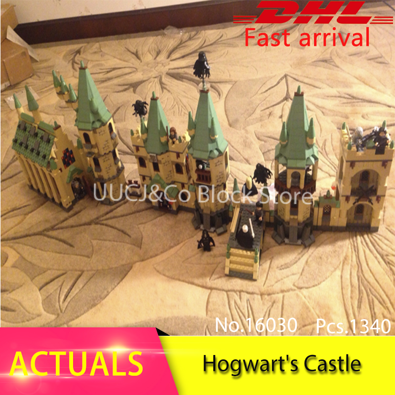 LEPIN 16030 1340pcs Moive series Harry Potter Hogwarts Castle  Model Building Blocks Bricks Toys For Children Toys Clone 4842 lepin 16030 1340pcs movie series hogwarts city model building blocks bricks toys for children pirate caribbean gift