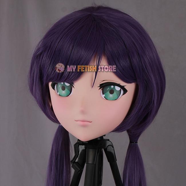 Boys Costume Accessories Novelty & Special Use mei-05 female Sweet Girl Resin Half Head Kigurumi Mask With Bjd Eyes Cosplay Japanese Anime Role Lolita Mask Crossdress Doll