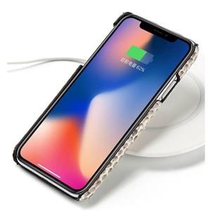 Image 3 - Funda de piel auténtica para iPhone SE 2020, 7, 8, X, XS, Max, XR, 6s, 5s, 5, 6, 7, 8 plus, 12 Min, 11 pro, max, piel de serpiente, marvel