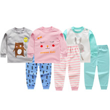 Boys Girls Clothes Thermal Underwear Children Kid Winter Autumn Cotton Pajamas Baby Toddler Tracksuit Girl Johns 1-6t