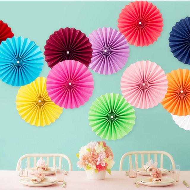 8 inch 20cm paper fan flower party wedding birthday hanging decoration bridal shower crafts party wedding