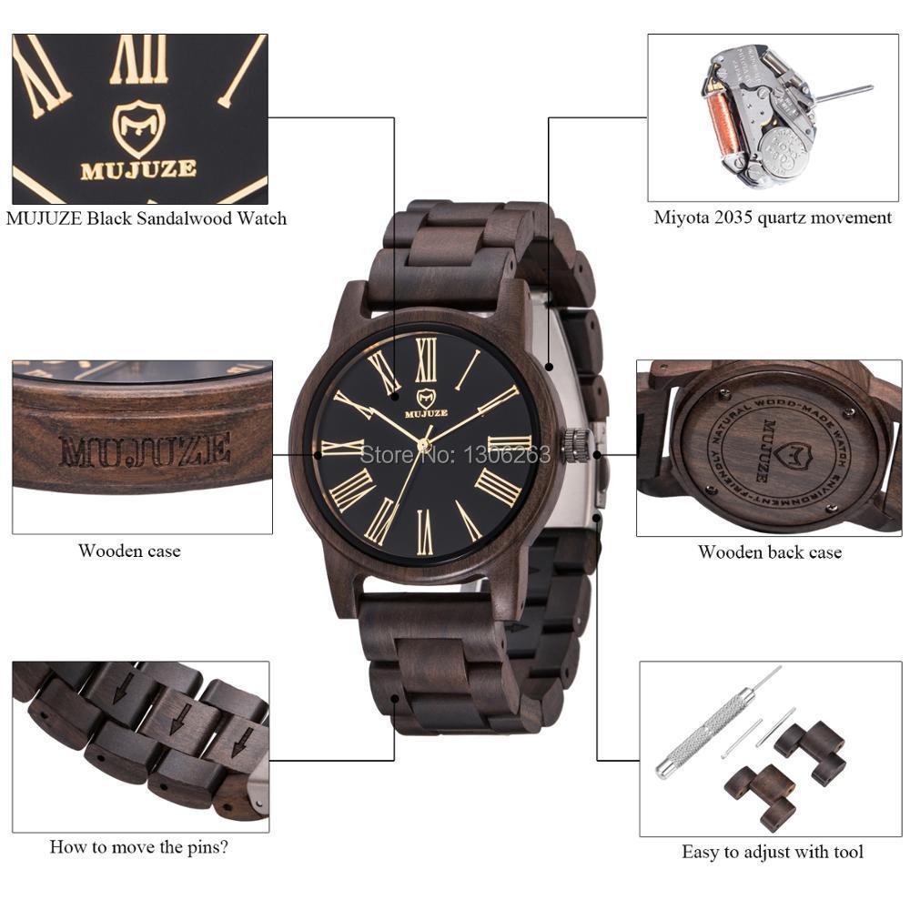 2018 El más nuevo diseño de los hombres de salud reloj de madera de - Relojes para hombres - foto 4