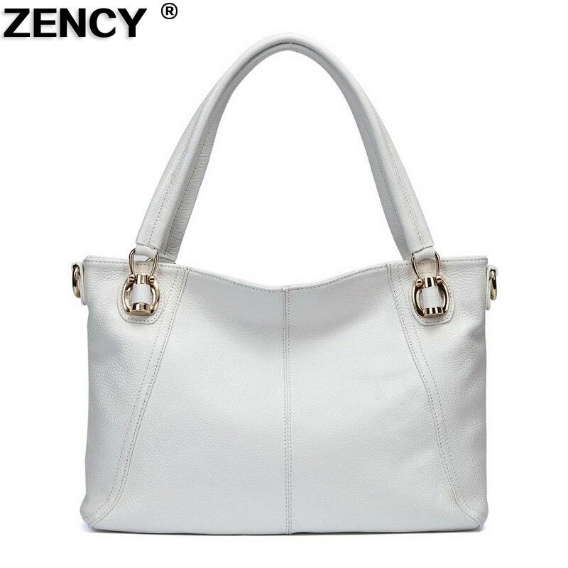 ZENCY 2019 European Style Hot Soft Genuine Leather Women s Shoulder Bags Soft Real Cowhide Cross