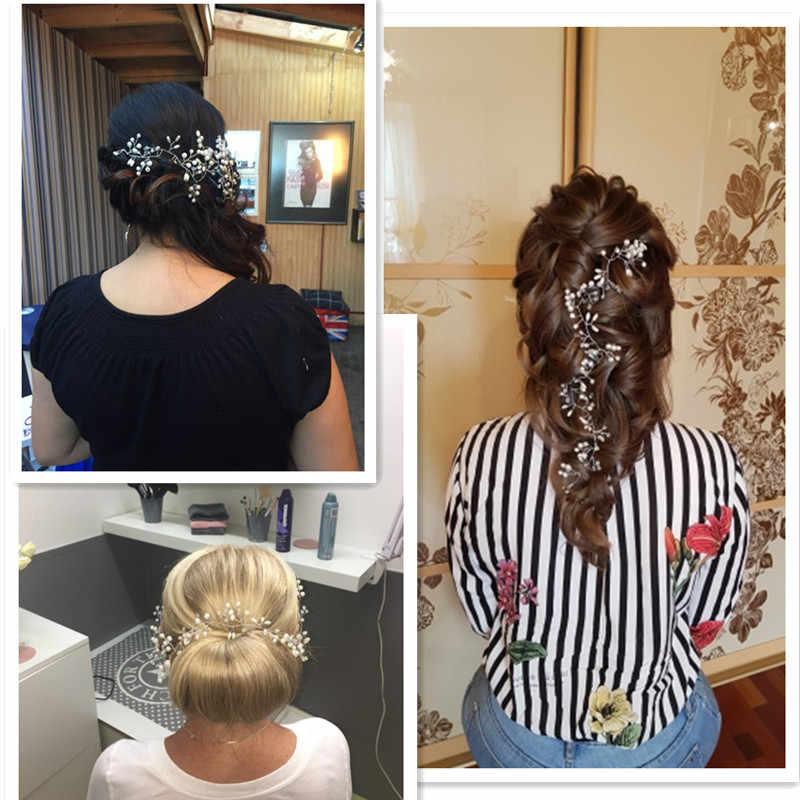 2019 Western งานแต่งงานแฟชั่น Headdress สำหรับเจ้าสาว Handmade มงกุฎดอกไม้ไข่มุกอุปกรณ์เสริมผม Hairpin เครื่องประดับ