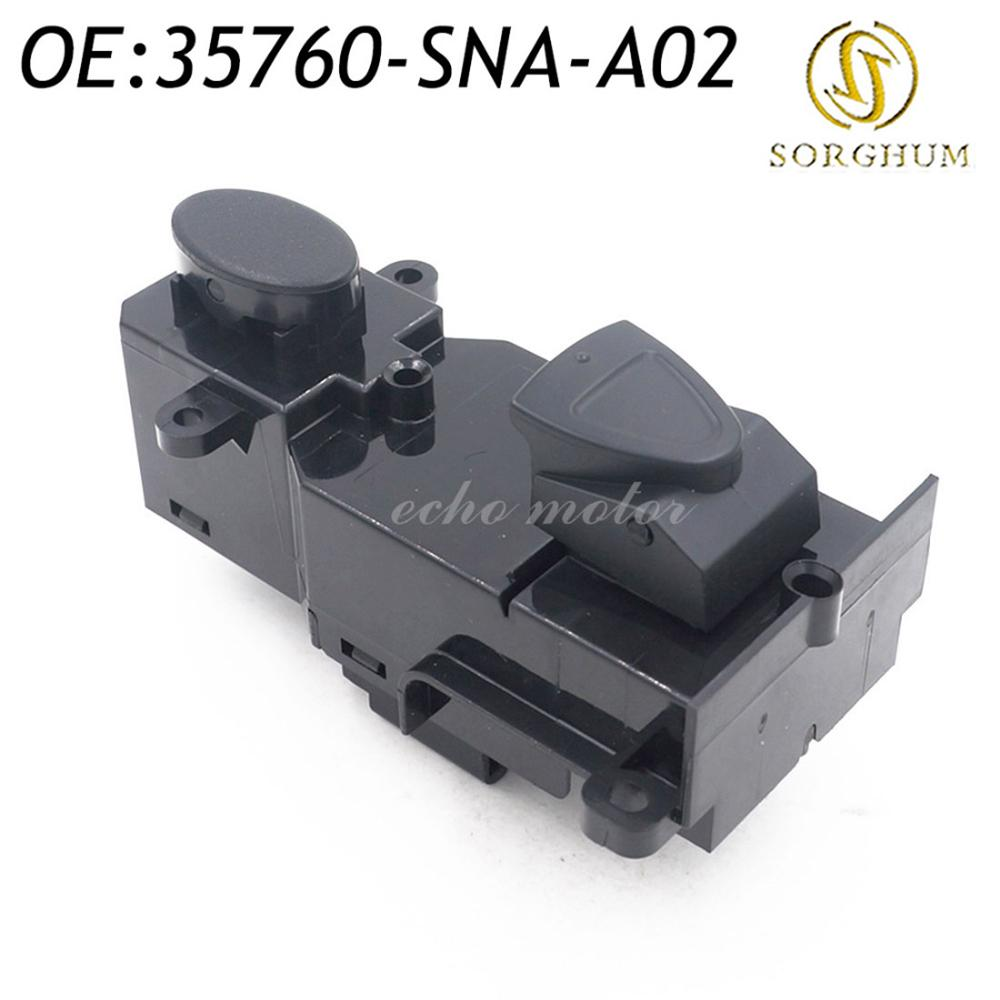 New 35760-SNA-A02 Front Right Side Power Master <font><b>Door</b></font> Window Switch 2005-2009 For Honda <font><b>Civic</b></font> 35760SNAA02 image