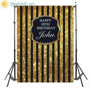 Image 1 - Sunsfun szczęśliwej rocznicy żółte tło dzieci fotografia balon urodziny dziecka tła Studio personalizacja