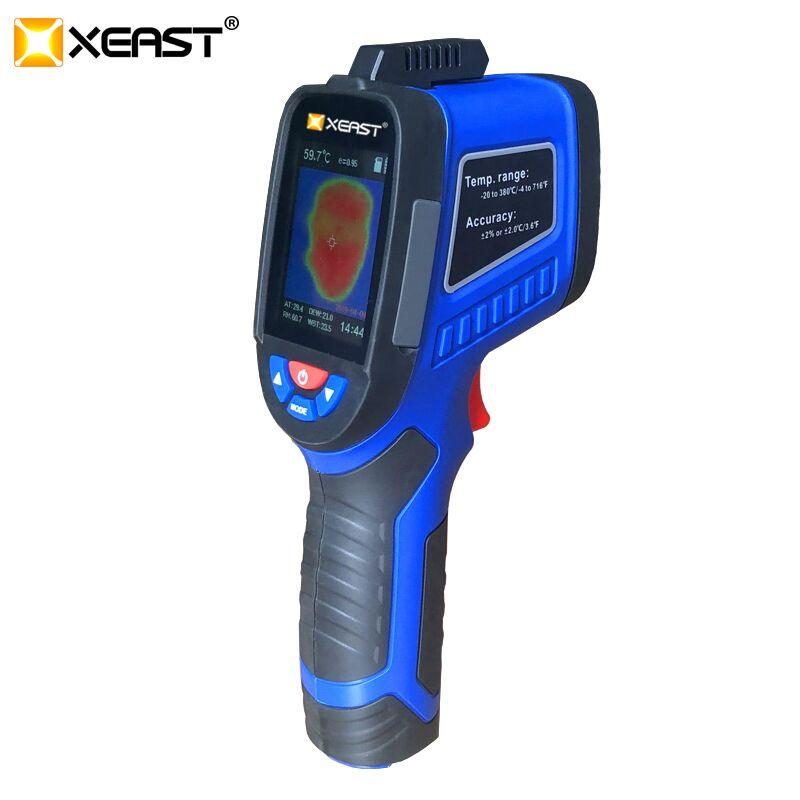 XEAST nouveauté XE-26 et XE-27 2.4 pouces écran couleur caméra d'imagerie thermique de poche image viennent avec l'humidité ambiante