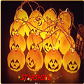 Halloween 4M 16LED Pumpkin LED String Light AC220V Orange Pumpkin Lights Halloween Holiday Decoration Lanterns Light