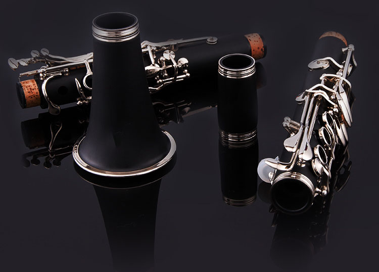цены Clarinet ABS 17 Key bB Flat Soprano Binocular Clarinet with Cleaning Cloth Gloves 10 Reeds Screwdriver Case Woodwind Instrument