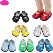 18 inch Girls doll shoes leather shoe American newborn dress Baby toys fit 43 cm baby accessories s40-s61