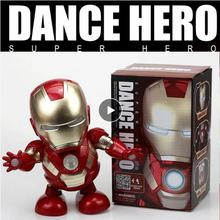 Can Dance Iron Man Marvel Avengers Action Figure Toy Led Flashlight With Light Sound Music Robot Iro
