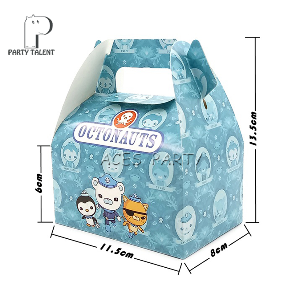 Image 2 - 24pcs/lot Candy Box Cake Box GIft Box for Kids Octonauts Theme Party Baby Shower Party Decoration Party Favor Supplies-in Gift Bags & Wrapping Supplies from Home & Garden