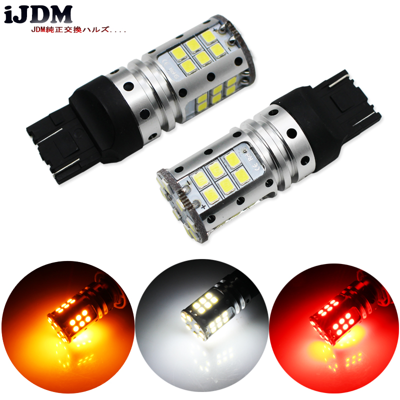 iJDM Car Tail Light 7443 LED Canbus 992 T20 W21/5W 7440 32SMD 3030 LED For car Auto Brake Reverse Lamp DRL Rear Parking Bulb.