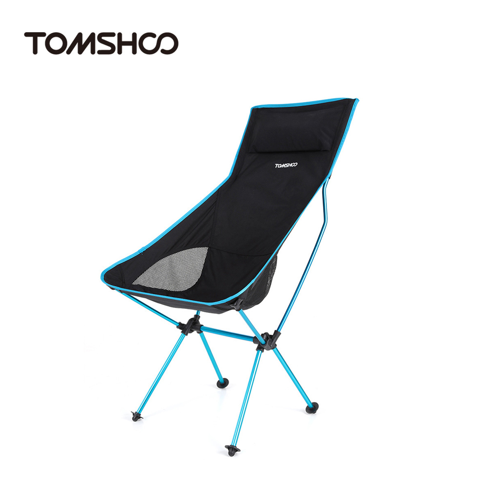Lightweight camping chairs - Tomshoo Ultra Lightweight Folding Portable Outdoor Camping Hiking Fishing Chair Lounger Chair