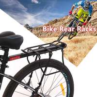 Black Bike Bicycle Quick Release Luggage Seat Post Pannier Carrier Rear Rack Shelf Bicycle Luggage Rack Bicycle Accessories