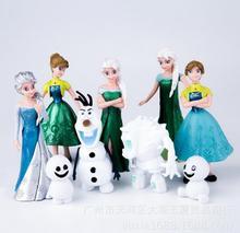 9pcs/lot Princess Anna Elsa Figures Snowman Olaf PVC Action Figure Toys Cute Model Gift for Kids Free Shipping