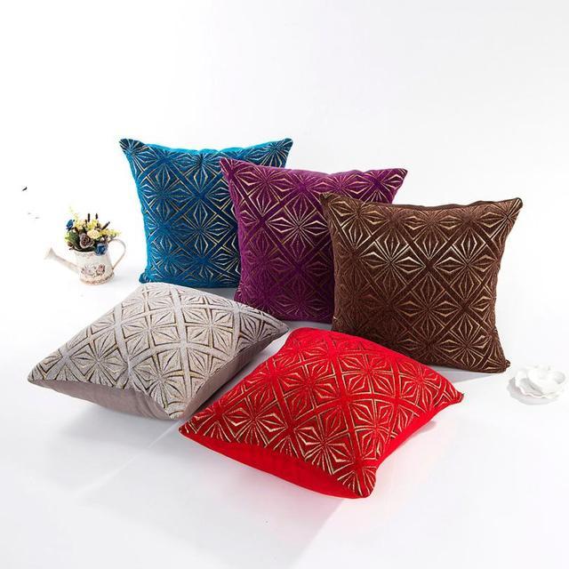 Pillow Sofa Waist Throw Cushion Cover Home Decor Case Gold Four Flower Cushions Sleeve