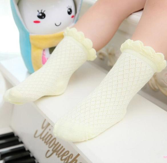 Cheap Cute Baby Toddler Kids Girls Boys Lace Mesh Thin Soft Cotton Ankle Socks
