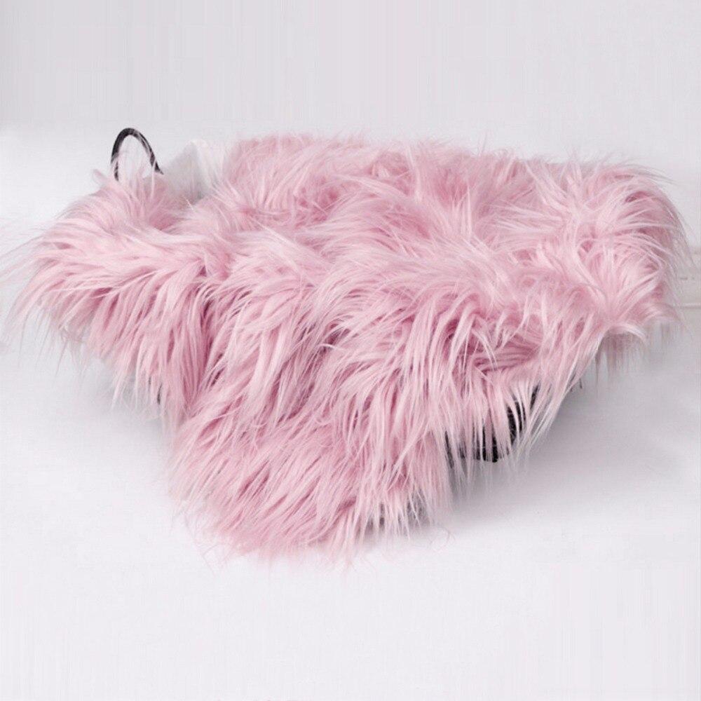 Puseky 50 X 60cm Newborn Baby Infant Fake Fur Rug Blanket Photography Photo Background Props Basket