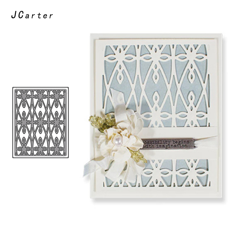 JCarter Beautiful Lace Frame Metal Cutting Dies for Scrapbooking DIY Album Embossing Folder Stencils Background Template Decor