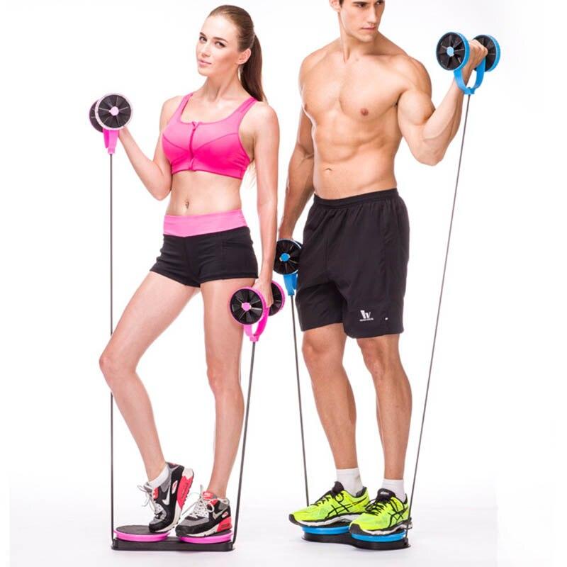 Wheel Roller Abdominal Trainer Twist Wheel Waist Muscle Trainer Arm Leg Exercice Fitness YA88|Ab Rollers| |  -